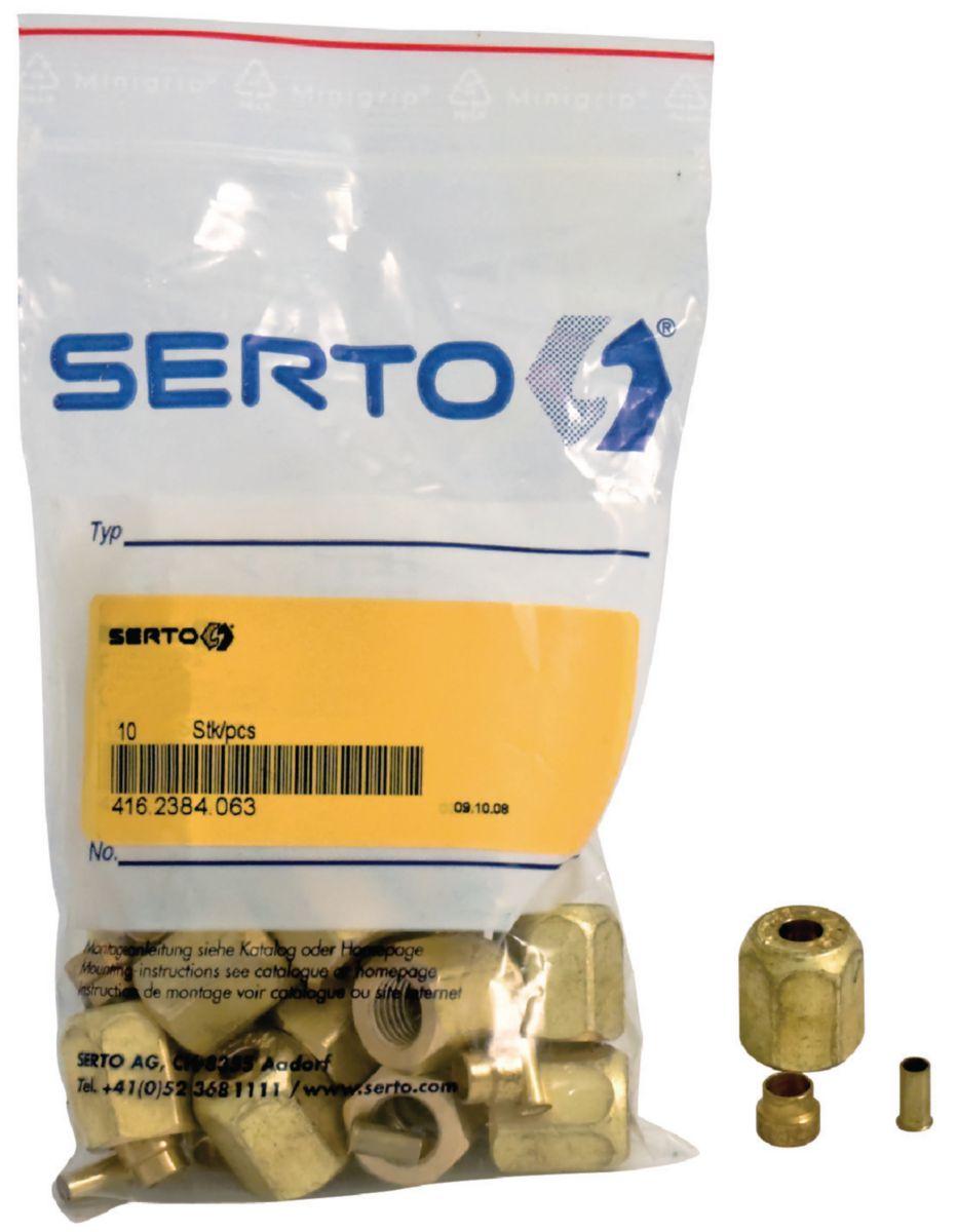 """Kit SERTO épaisseur 0,8mm diamètre 1/4"""" sachet de 10 ACU265"""