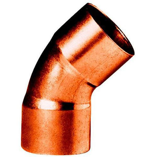 Coude cuivre à braser FF 45° 7/8 Réf ACU10545 / 9606007000000