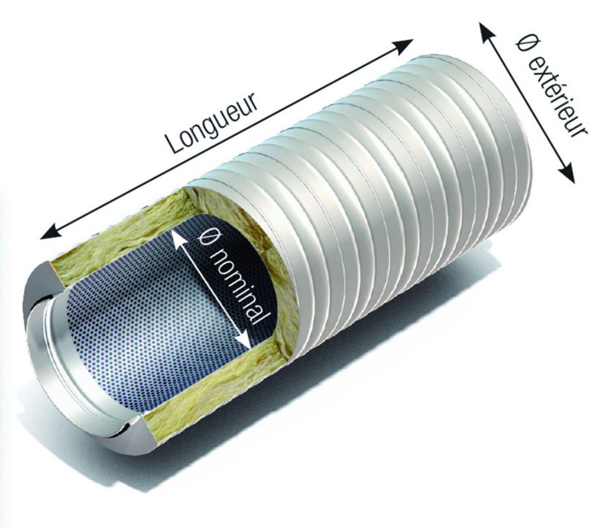 Silencieux confort 50 longueur 900mm diamètre 450mm