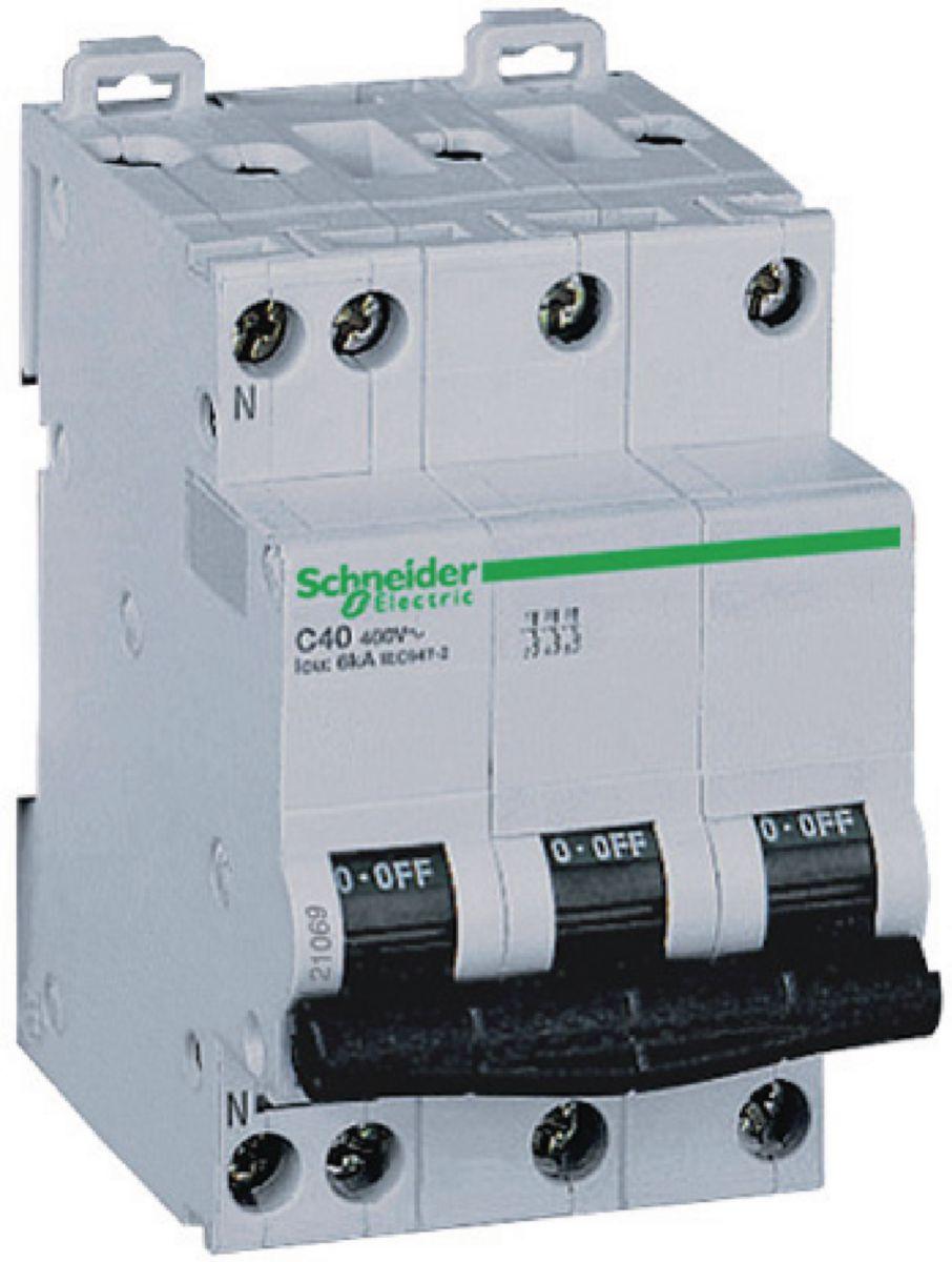 Disjoncteur DT40N 3P+N 16 ampères D A9N21416