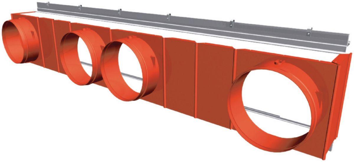 Plenum de reprise 1180 4 x 250 mm réf. PLR1180