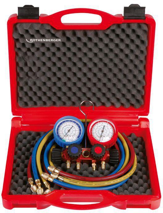Coffret manomètre 4 voies standard pour gaz R410A réf 1706.06