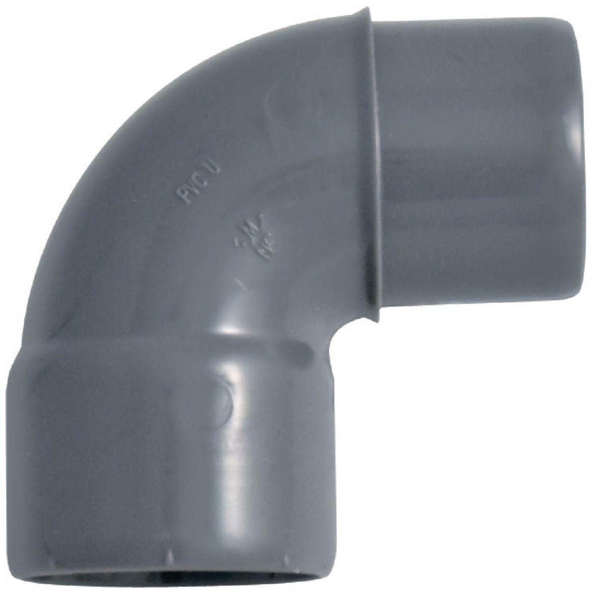 Coude 90° mâle-femelle diamètre 32mm en PVC 39-475
