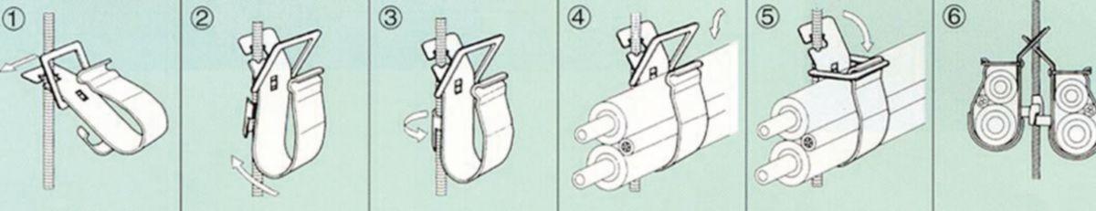 Collier de montage GM PN 4 AFX122 réf. PNE-4