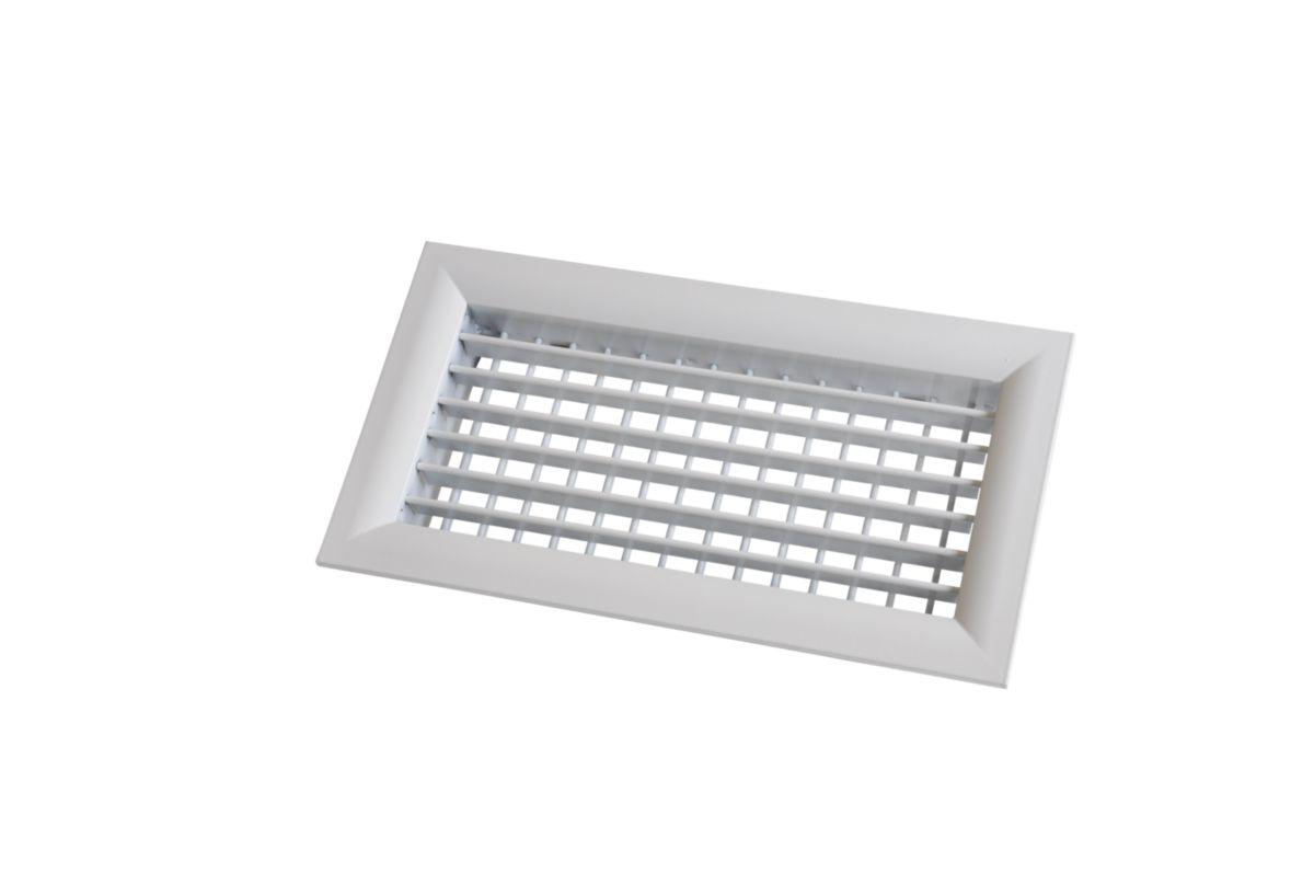 Grille da/ération /à encastrer en aluminium Blanc 130 x 300mm