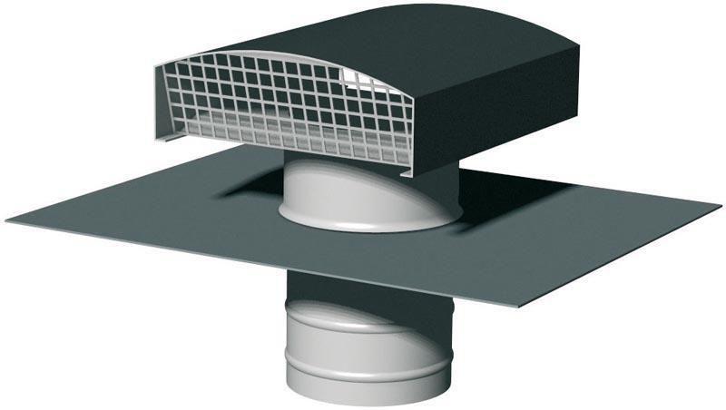 Chapeau de toiture métallique CTM 630 ardoise Réf. 6068