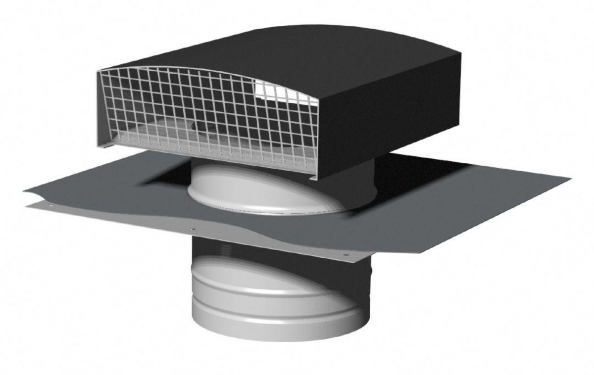 Chapeau de toiture métallique CTM 200 ardoise Réf. 6061