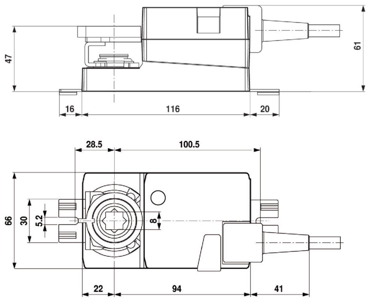 Servomoteur Belimo pour registre 24V Réf LMC24A-F-TP DPO