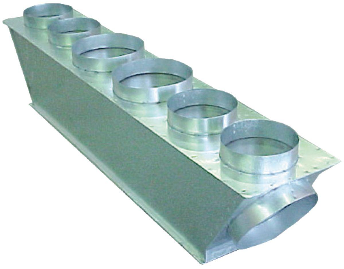 Plénum de soufflage isolé M1 taille M pour gainable S-60/71/PF1E5A piquages 5x200+1x250 Réf PLSFL-PANA-M