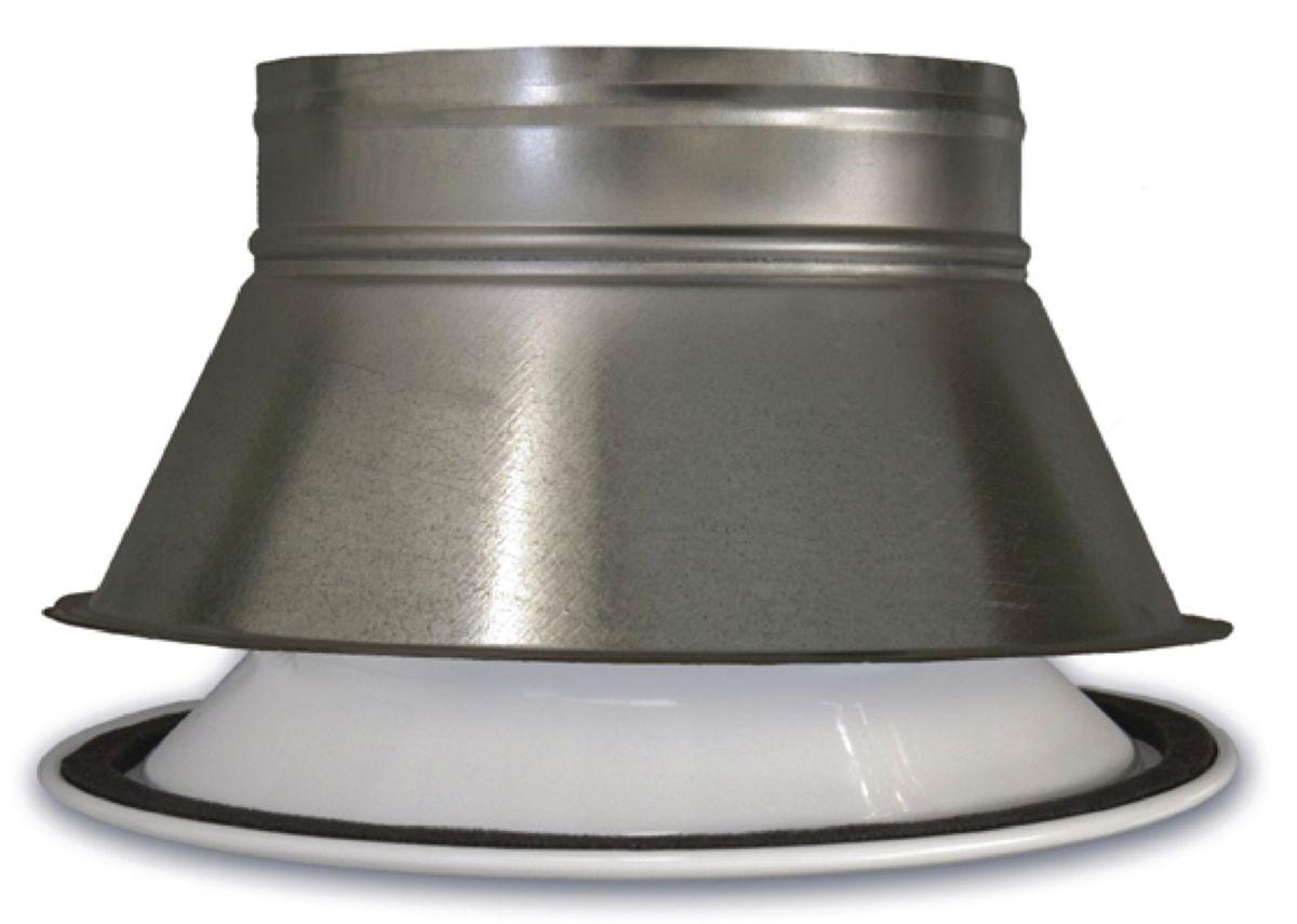 Plénum pour grille ronde diamètre 300mm  AGI195
