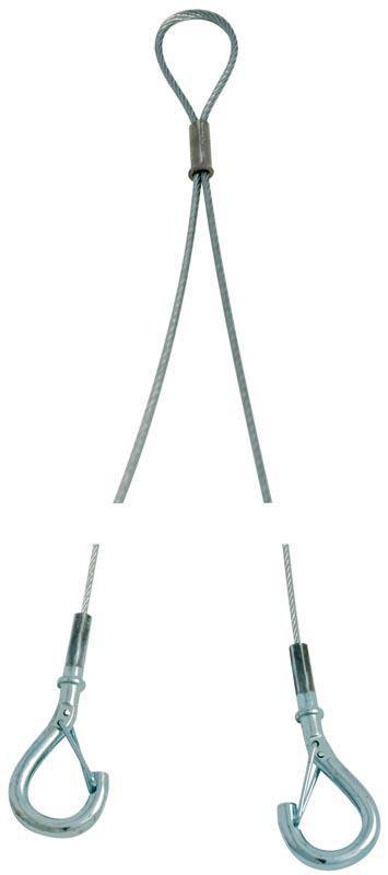 Câble Gipple Y ajustable N2 500 mm 2 embouts crochets (sachet de 10) réf. Y2AJ500EC