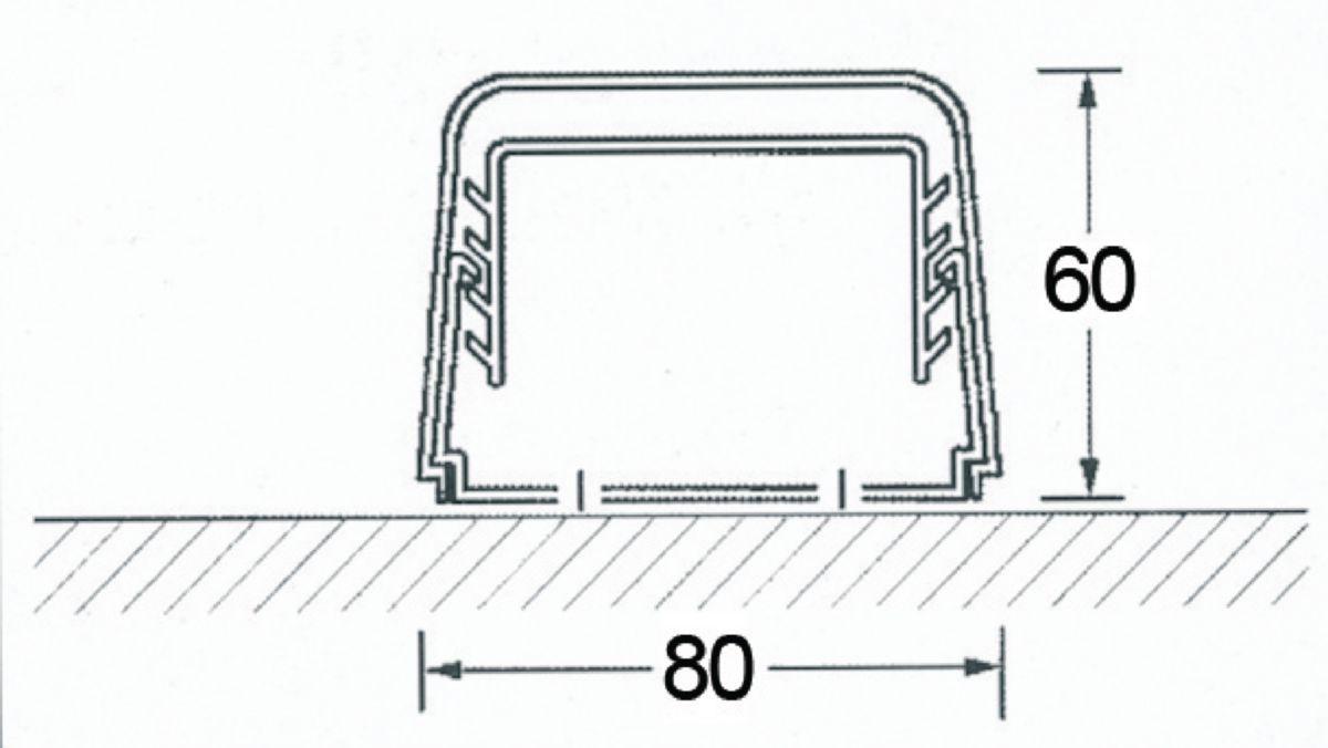 Goulotte 80x60mm longueur 2ml couleur ivoire Réf 0812BCF