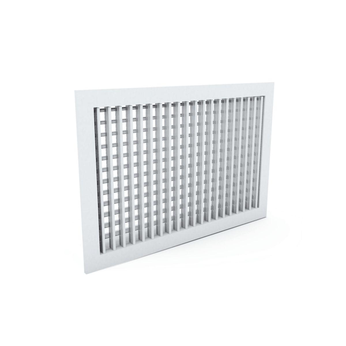 Grille aluminium 300X150 double deflex, réf AD130 300X150