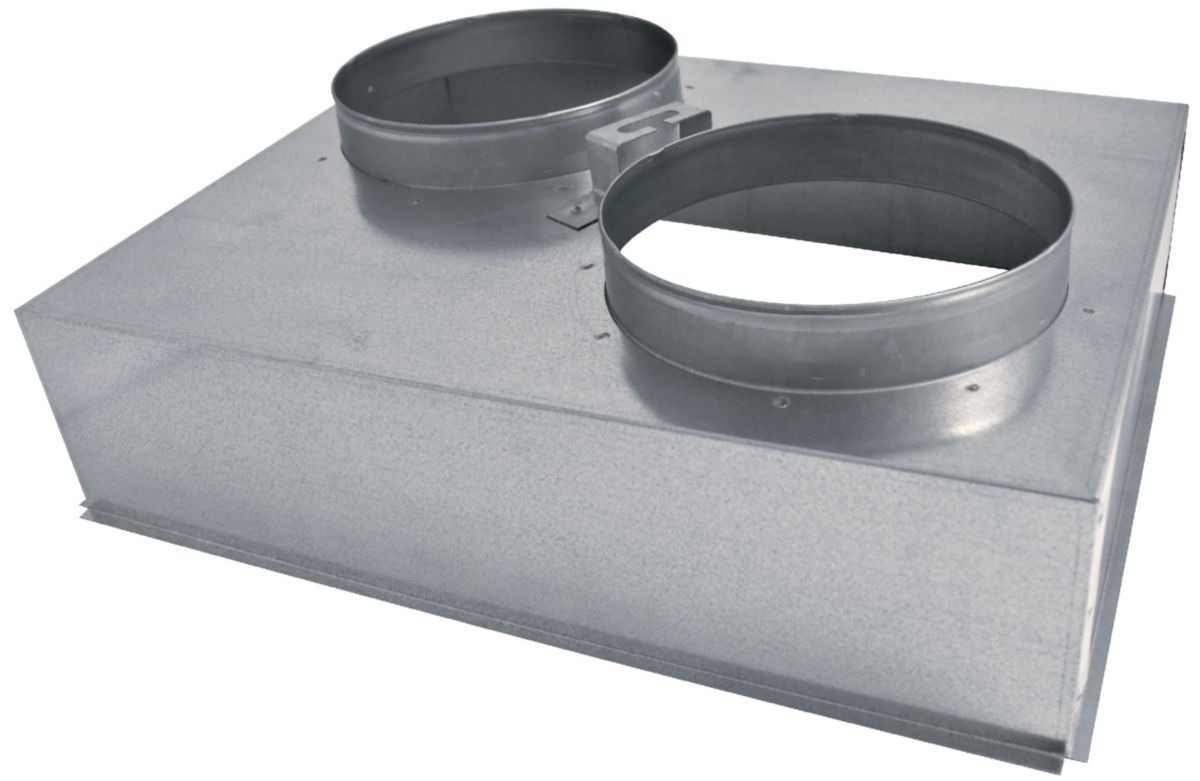 Plénum métal pour grille 500/400 AGI176 Réf 94973