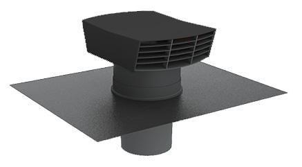 Chapeau de toiture plastique CTP 125 ardoise Réf. 6058