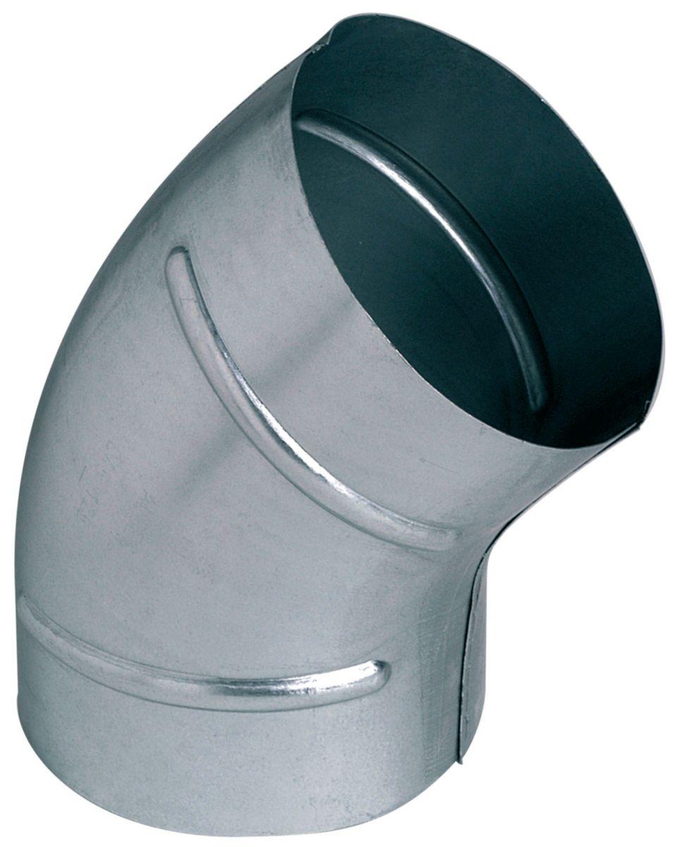 Coude 45 degrés galva diamètre 315mm Réf. C45D0315