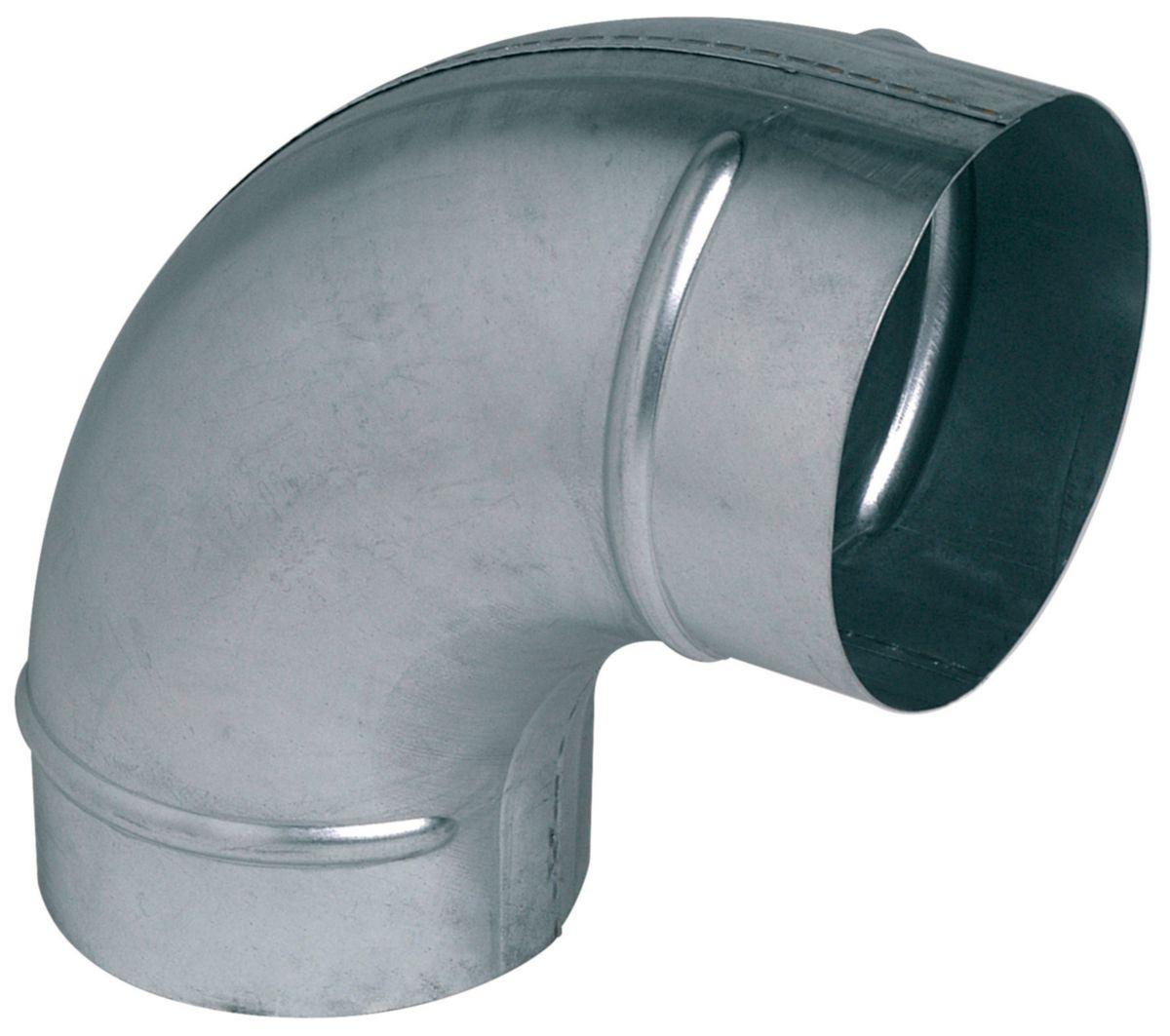 Coude 90 degrés galva diamètre 315mm Réf. C90D0315