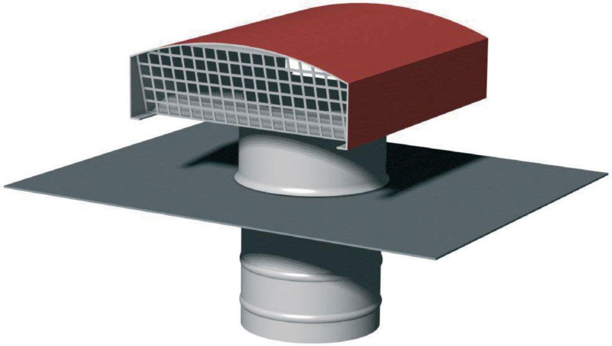 Chapeau de toiture métallique CTM 450 tuile Réf. 6016
